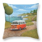 Sea Van Variant 1 Throw Pillow