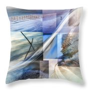 Sea Water Art Throw Pillow