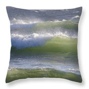 Sea Waves Throw Pillow