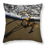 Sea Weed And A Wave Throw Pillow