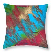 Seabreeze Abstract Painting Throw Pillow