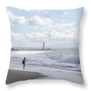 Seabright Beach Throw Pillow