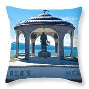Seafarer's Memorial On Homer Spit-ak Throw Pillow