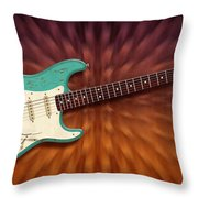 Seafoam Strat Throw Pillow