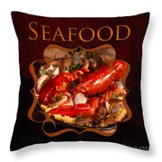 Seafood Gallery Throw Pillow