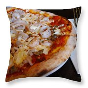 Seafood Pizza Throw Pillow