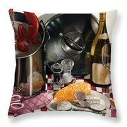 Seafood Serenade 1996  Skewed Perspective Series 1991 - 2000 Throw Pillow by Larry Preston