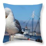 Seagull 3 Throw Pillow