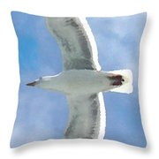 Seagull 3 Throw Pillow