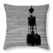 Seagull And Buoy Throw Pillow