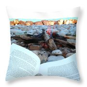 Seagull And Me Throw Pillow