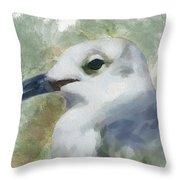 Seagull Closeup Throw Pillow