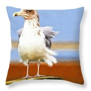 Seagull Colors Throw Pillow