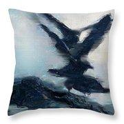 Seagull Grace Throw Pillow