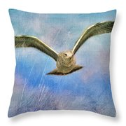 Seagull In The Storm Throw Pillow