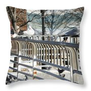 Seagull Lady In The Afternoon Throw Pillow