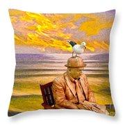 Seagull Man 6 Throw Pillow