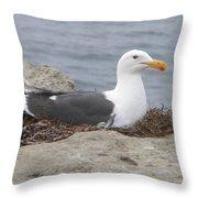 Seagull Nest Throw Pillow