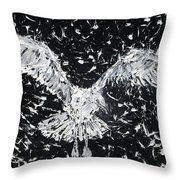 Seagull - Oil Portrait Throw Pillow