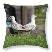 Seagull Opposites Throw Pillow