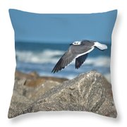 Seagull Parallel Throw Pillow