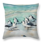 Seagull Party Throw Pillow