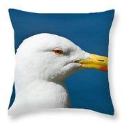 Seagull Portrait Throw Pillow