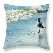 Seagull Stroll Throw Pillow
