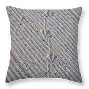 Seagull Tracks Throw Pillow