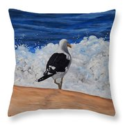 Seagull Triptych Throw Pillow