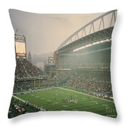 Seahawks Stadium 2 Throw Pillow