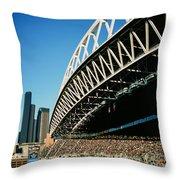 Seahawks Stadium 5 Throw Pillow