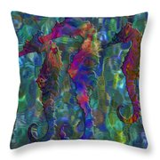 Seahorse 2 Throw Pillow by Jack Zulli