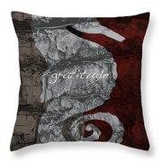 Seahorse Gratitude Throw Pillow