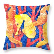 Seahorse Heaven Throw Pillow