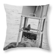 Seal Hammock Black And White Throw Pillow