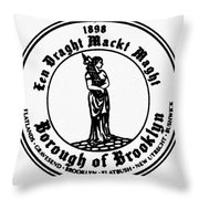 Seal Of Brooklyn Throw Pillow