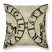 Seal Of The Knights Templar Throw Pillow