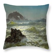 Seal Rock California Throw Pillow