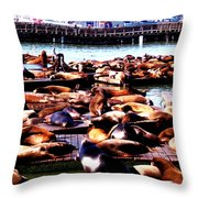 Seal Wharf Throw Pillow