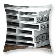 Sealed Air Is So Fresh Throw Pillow