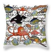 Sealife Dreamland IIi Throw Pillow