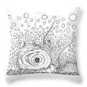 Sealife Smoooch Throw Pillow