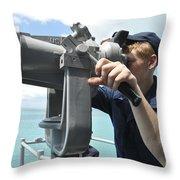 Seaman Mans The Big Eyes Aboard Throw Pillow