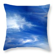Seamless Background Sky Throw Pillow