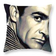 Sean Connery Artwork Throw Pillow