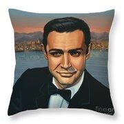 Sean Connery As James Bond Throw Pillow
