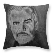 Sean Connery First Knight Throw Pillow