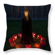 Seance Pumpkins Demon Throw Pillow