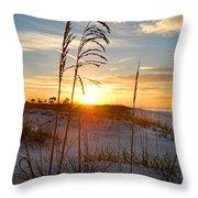 Seaoats Sunrise Throw Pillow
